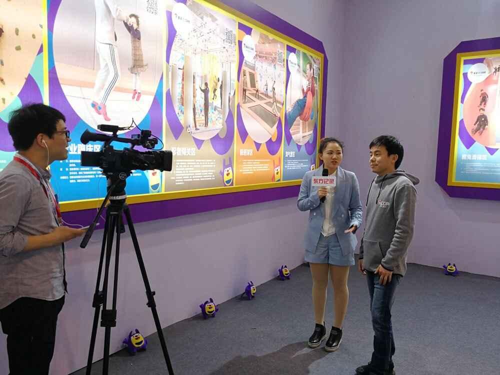 口袋屋活力空间创始人王永宝接受上海卫视东方视点采访