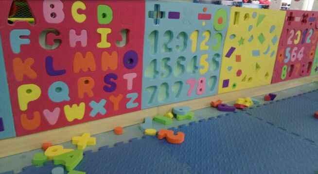 口袋屋儿童EVA益智拼插积木乐园使用案例