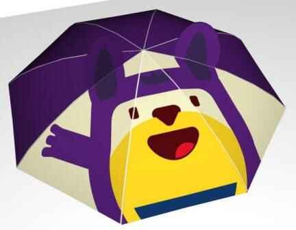 蹦床馆商品雨伞设计