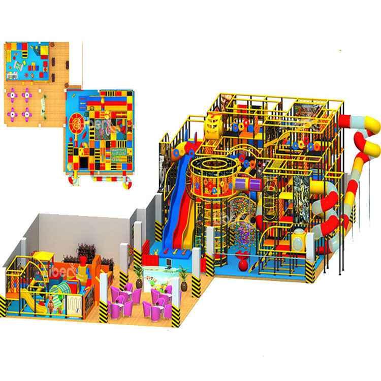 室内儿童淘气堡乐园设计效果图