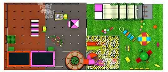菲律宾弹力迷宫设计俯视图