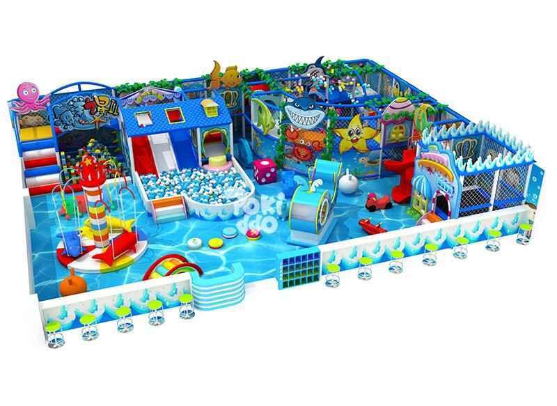 海洋主题风格淘气堡儿童乐园