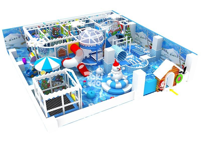 冰雪主题风格淘气堡儿童乐园
