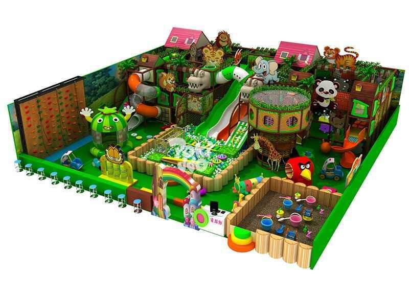 森林主题风格淘气堡儿童乐园