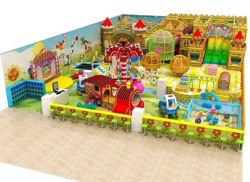城堡主题风格淘气堡儿童乐园