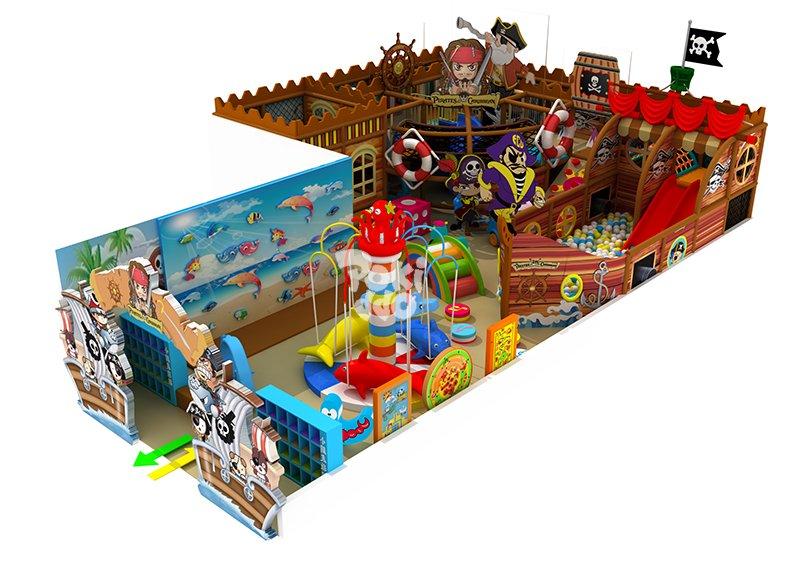 海盗主题风格淘气堡儿童乐园