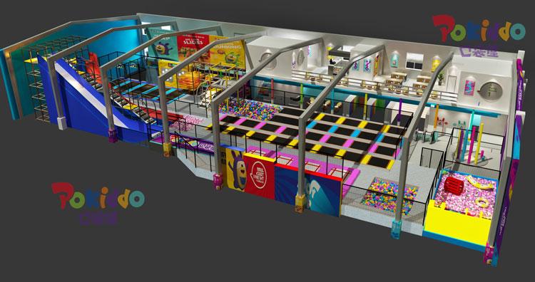 蹦床公园场馆视觉设计