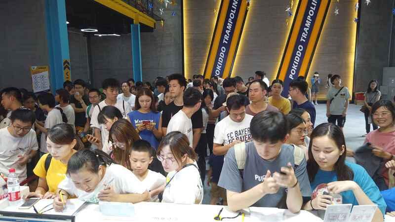 蹦床公园节假日人流量