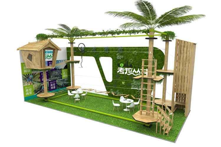 CAAPA活动现场中口袋屋展示的考拉丛林探险模型.jpg