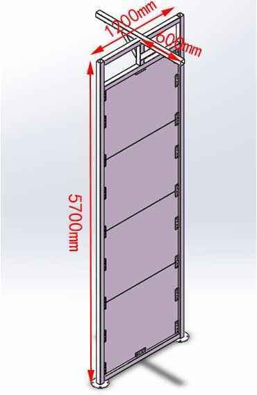 透明攀岩墙工程结构尺寸图