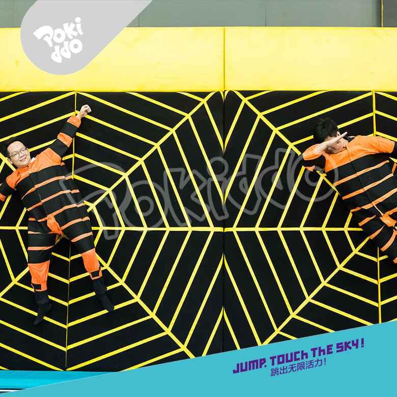 蹦床公园蜘蛛墙蜘蛛服