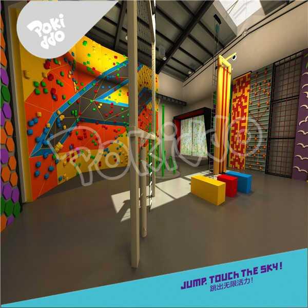 室内乐园蹦床公园游乐项目——抱石攀岩