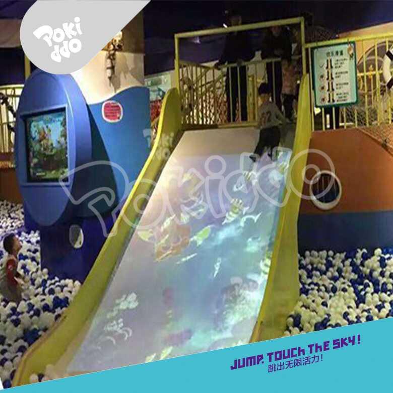 儿童淘气堡-炫彩滑梯投影设备