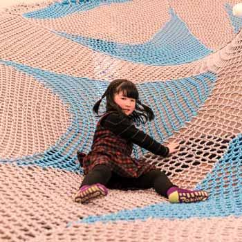彩虹绳网攀爬网