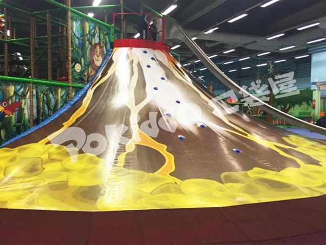 2020室内儿童乐园|蹦床公园新功能流行项目-火山攀岩