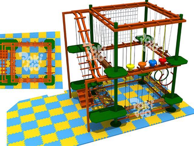 蹦床公园中的室内拓展设备如何保养和维护?
