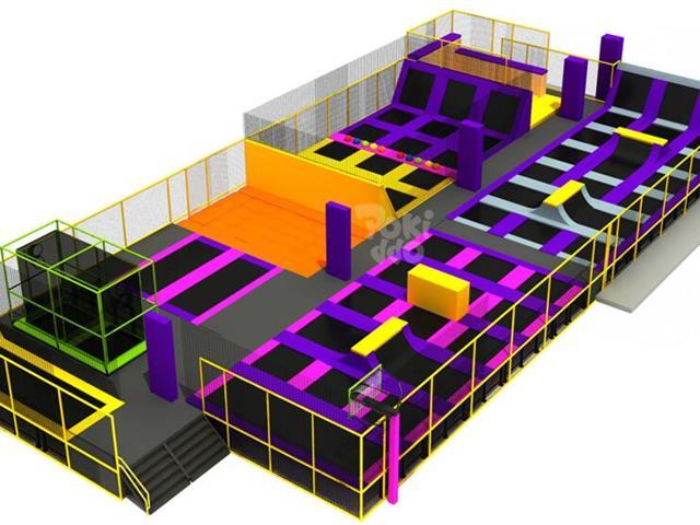 英国-99 Jump Street蹦床公园,口袋屋蹦床公园国外案例,专业蹦床公园打造