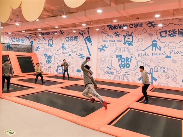口袋屋体育运动竞技馆,互动躲避球区,让人熟悉又陌生的运动娱乐互动游乐设备