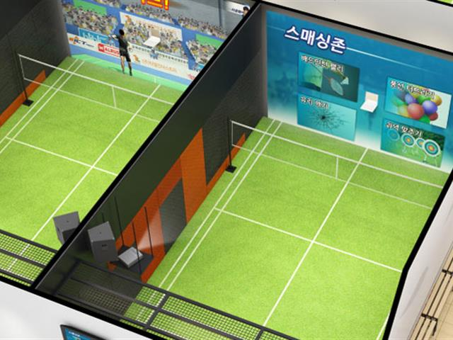 口袋屋游乐智能互动羽毛球,室内乐园新型运动娱乐竞技设备