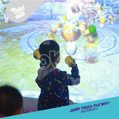 室内儿童乐园互动投影魔法砸球