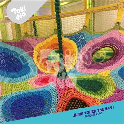 室内儿童乐园设备彩虹爬网